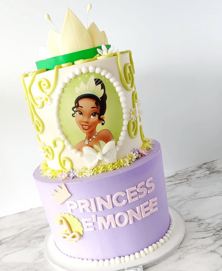Captivating The Princess and the Frog Cake