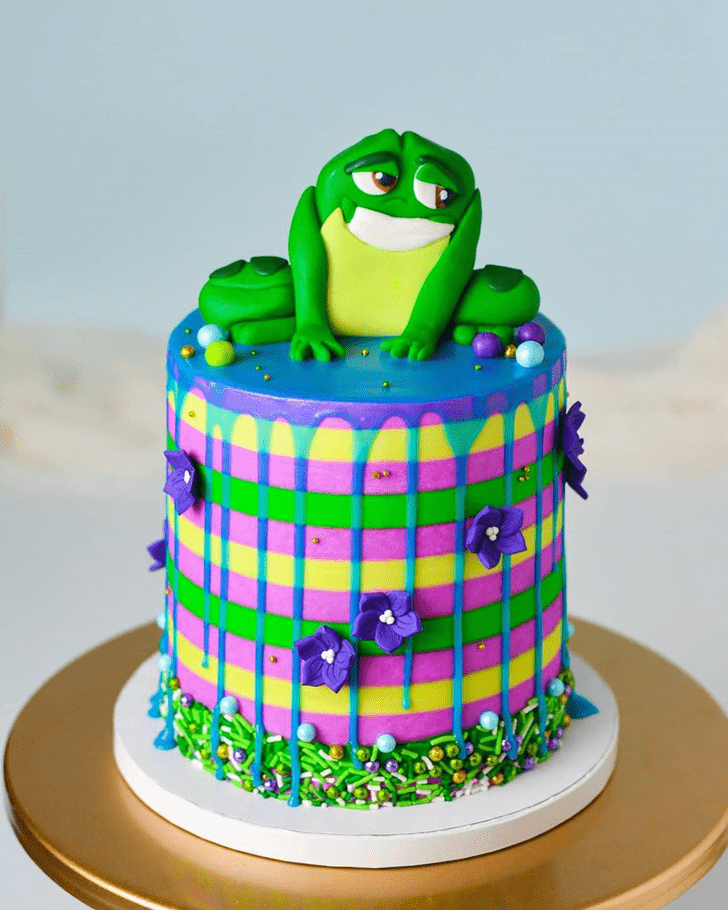 Comely The Princess and the Frog Cake
