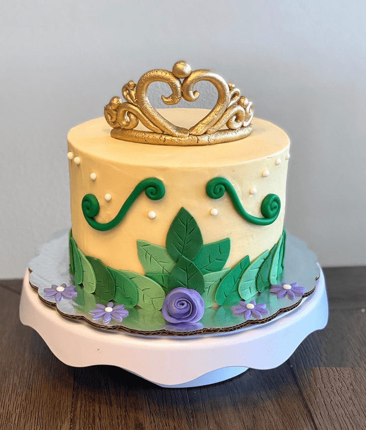 Delightful The Princess and the Frog Cake