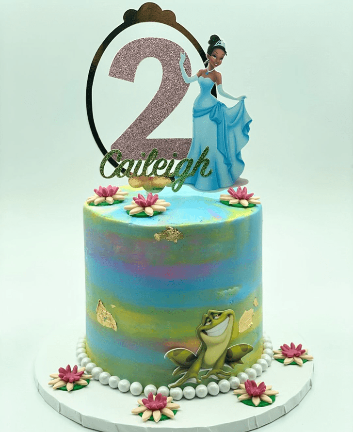Elegant The Princess and the Frog Cake