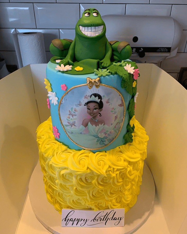 Fine The Princess and the Frog Cake
