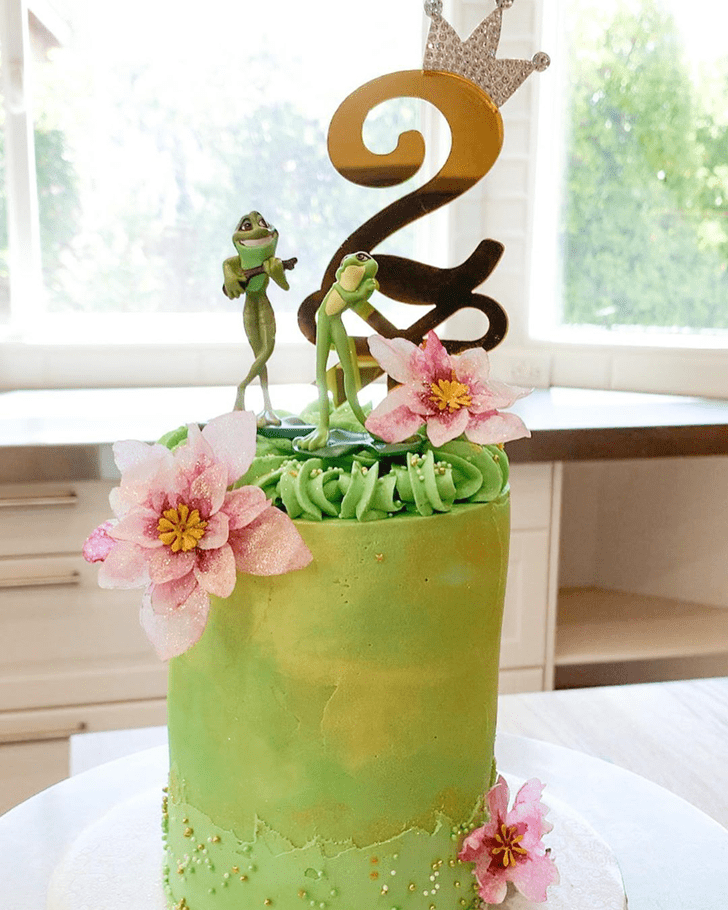 Handsome The Princess and the Frog Cake