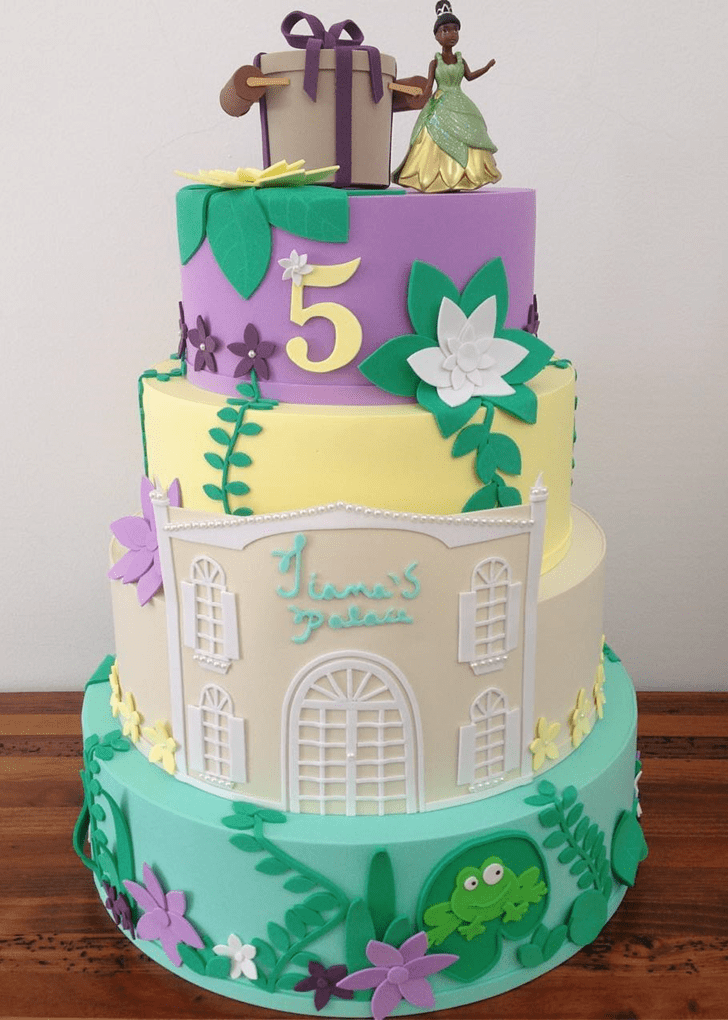 Shapely The Princess and the Frog Cake