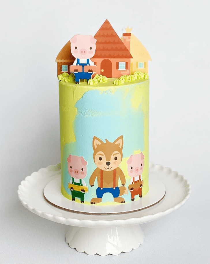 Appealing Three Little Pigs Cake