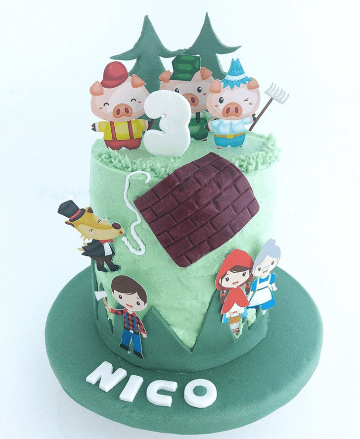 Bewitching Three Little Pigs Cake