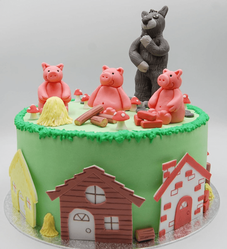 Captivating Three Little Pigs Cake