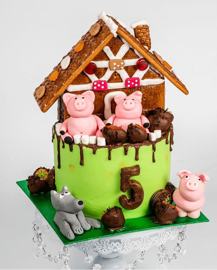 Classy Three Little Pigs Cake
