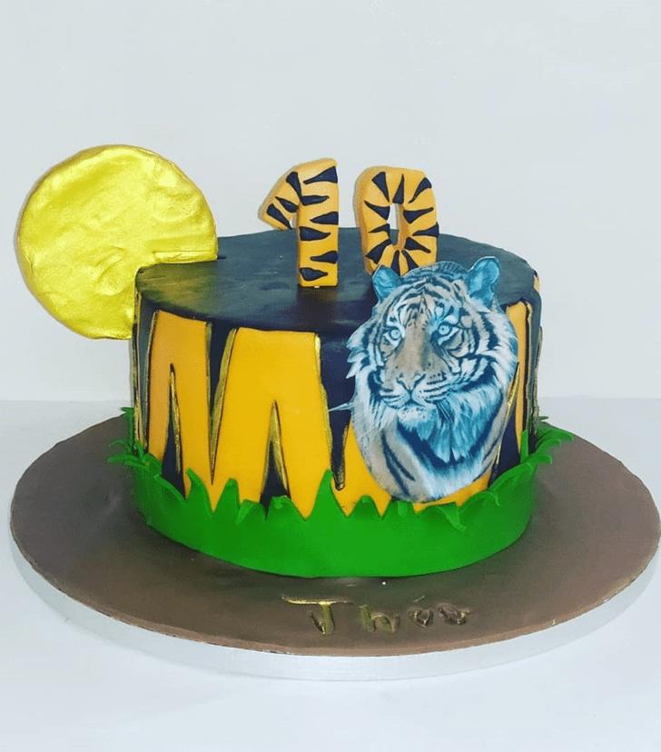 Alluring Tiger Cake