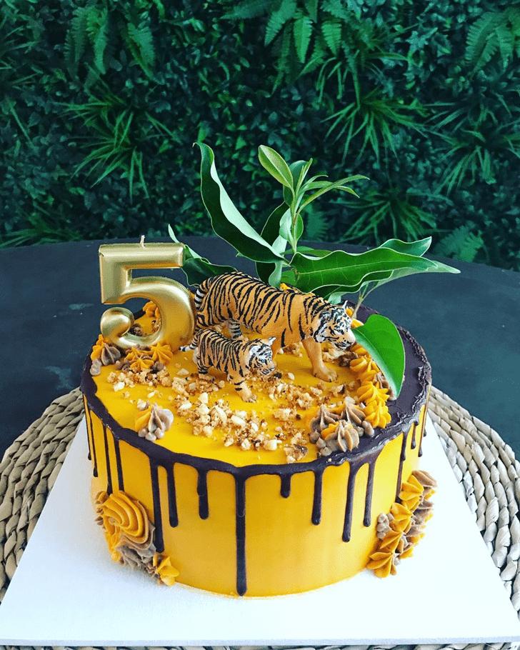 Appealing Tiger Cake