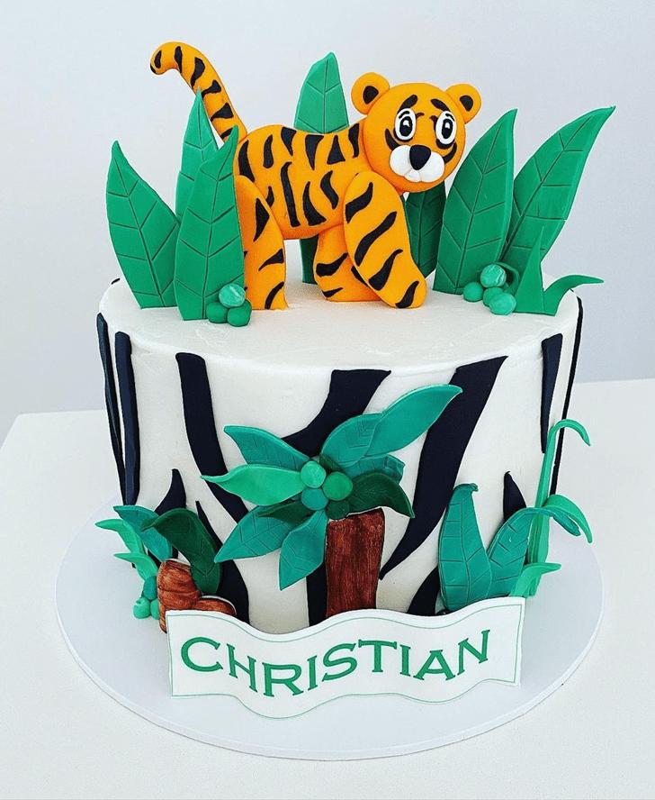 Captivating Tiger Cake