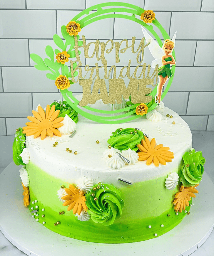 Adorable Tinker Bell Cake