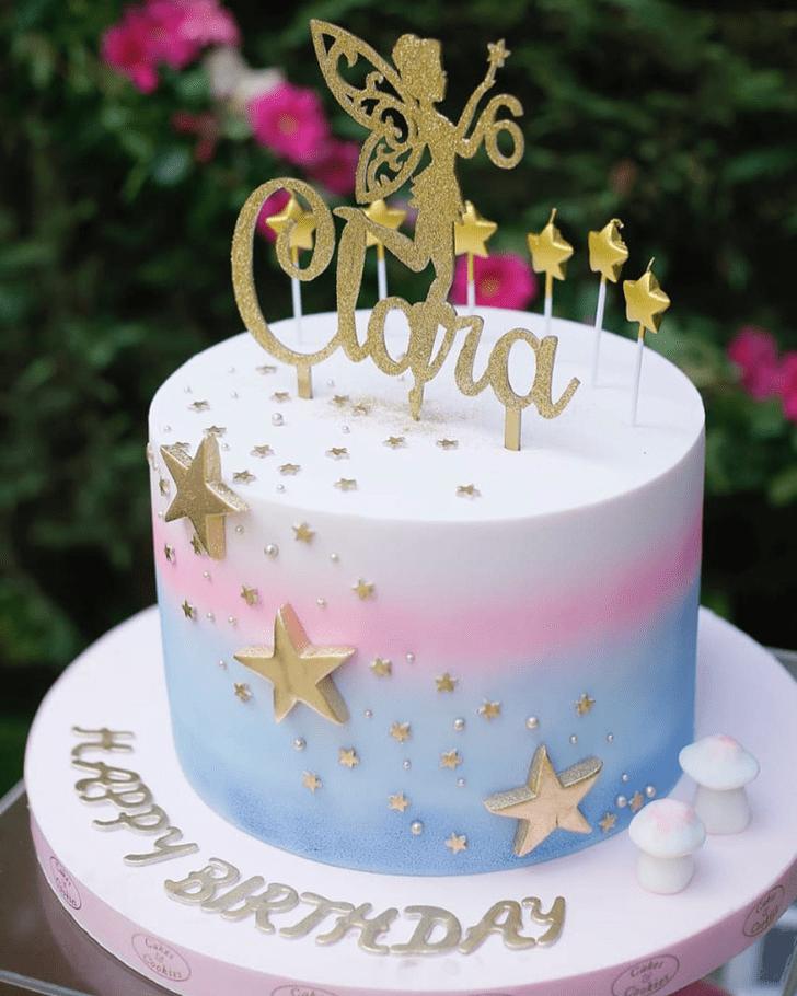 Classy Tinker Bell Cake
