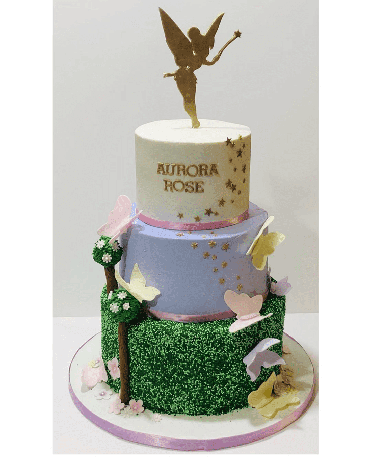 Classy Tinkerbell Cake