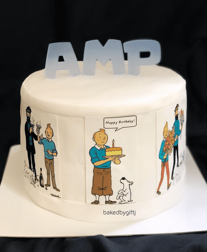Angelic Tintin Cake