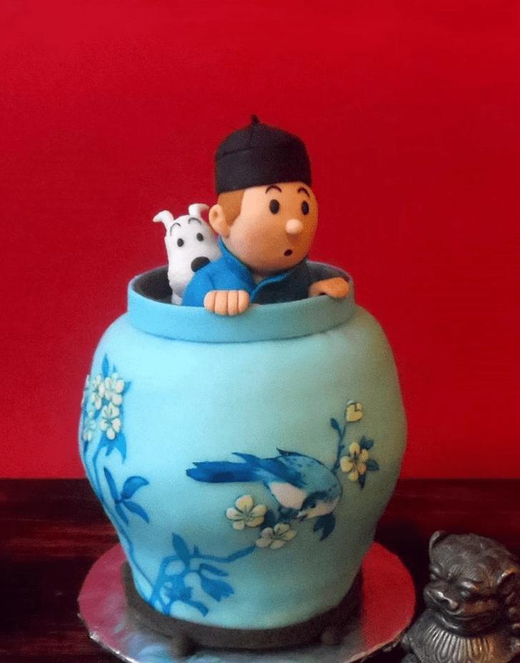 Beauteous Tintin Cake