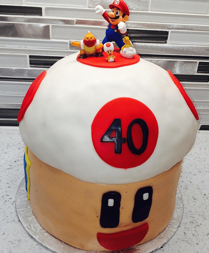 Adorable Toad Cake