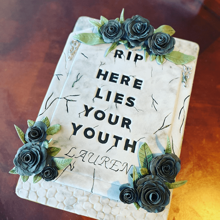 Adorable Tombstone Cake