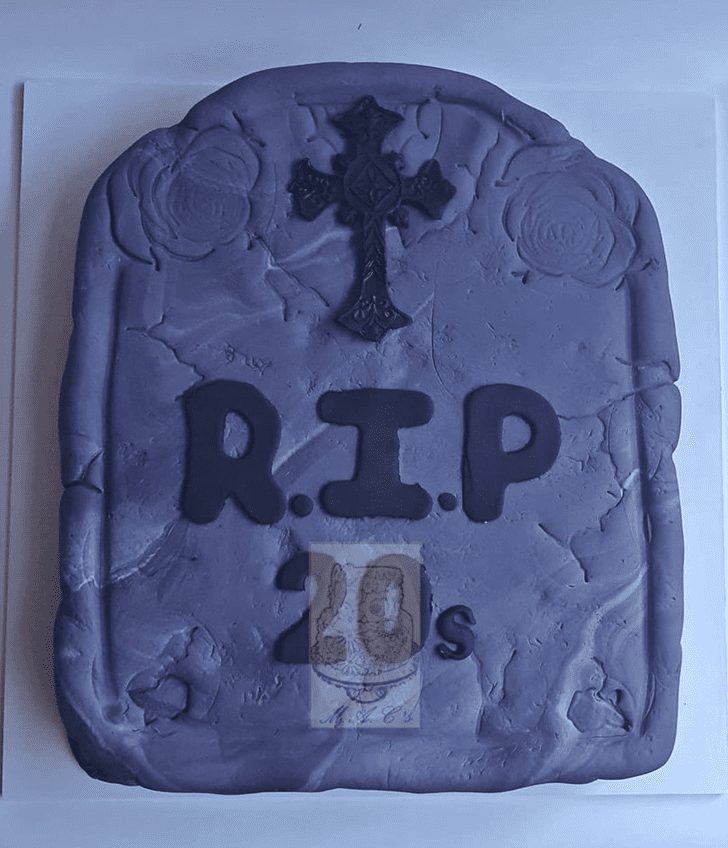Appealing Tombstone Cake