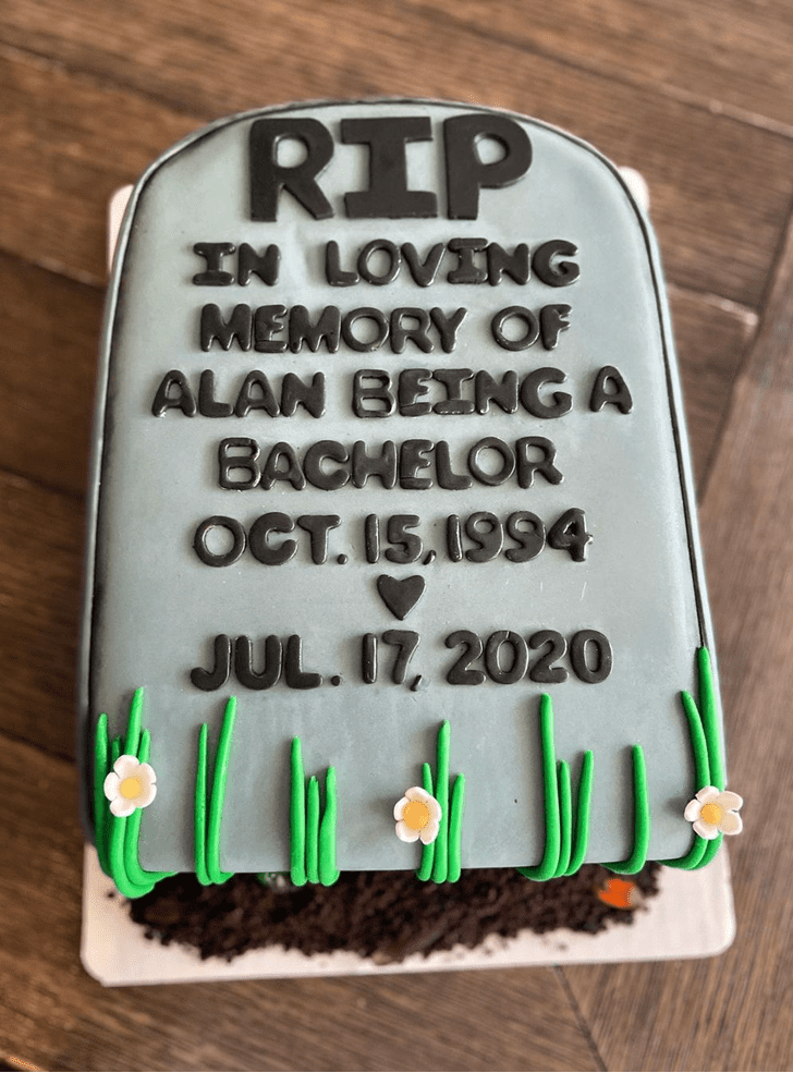 Bewitching Tombstone Cake