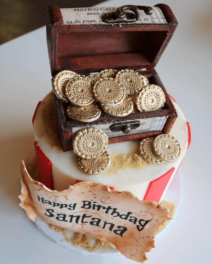 Admirable Treasure Cake Design