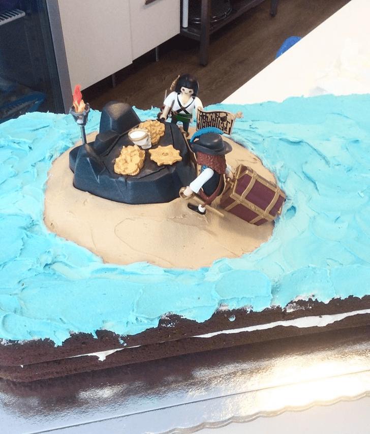 Appealing Treasure Island Cake