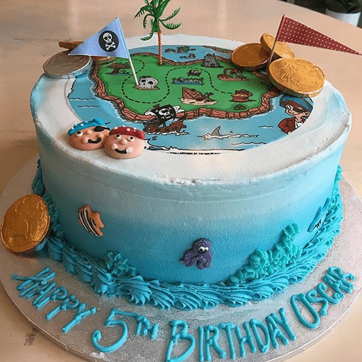 Charming Treasure Island Cake
