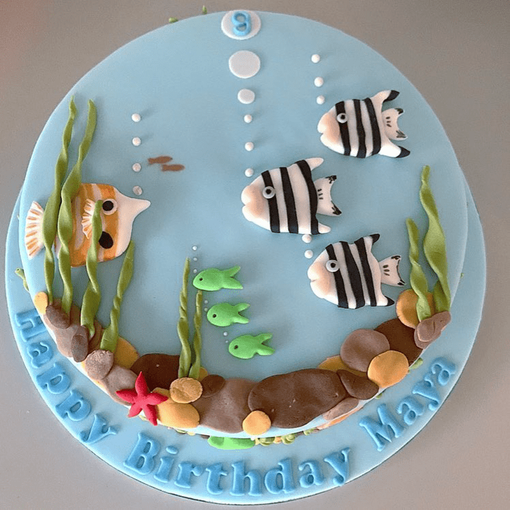 Admirable Tropical Fish Cake Design