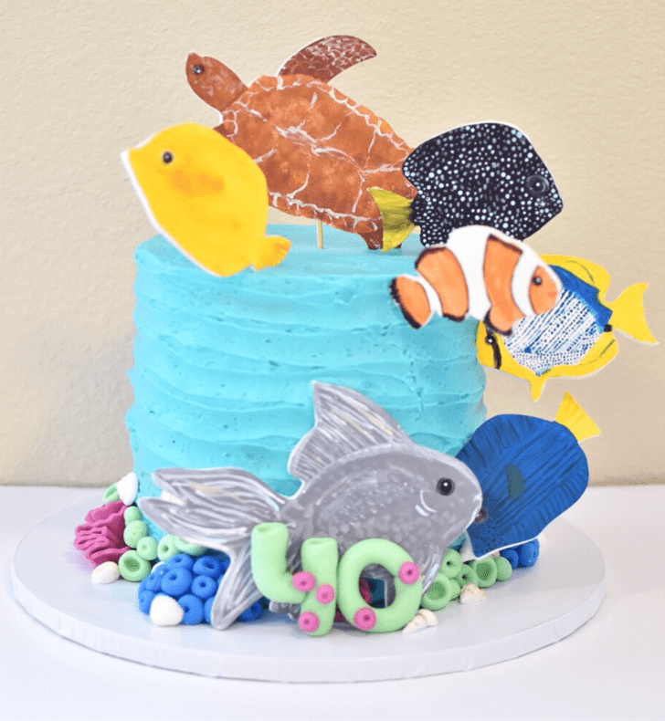 Angelic Tropical Fish Cake