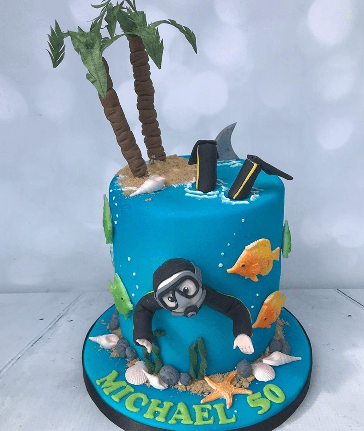 Charming Tropical Fish Cake
