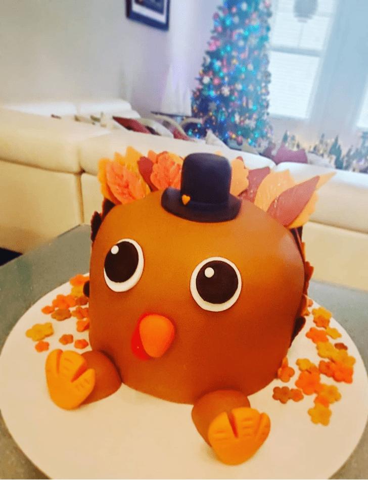 Cute Turkey Cake