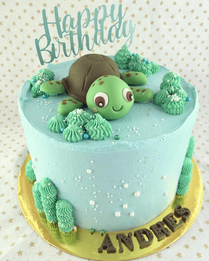Admirable Turtle Cake Design