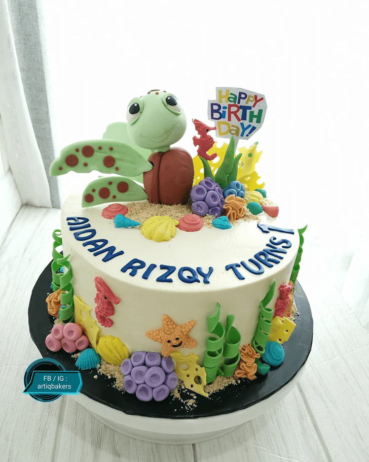 Adorable Turtle Cake
