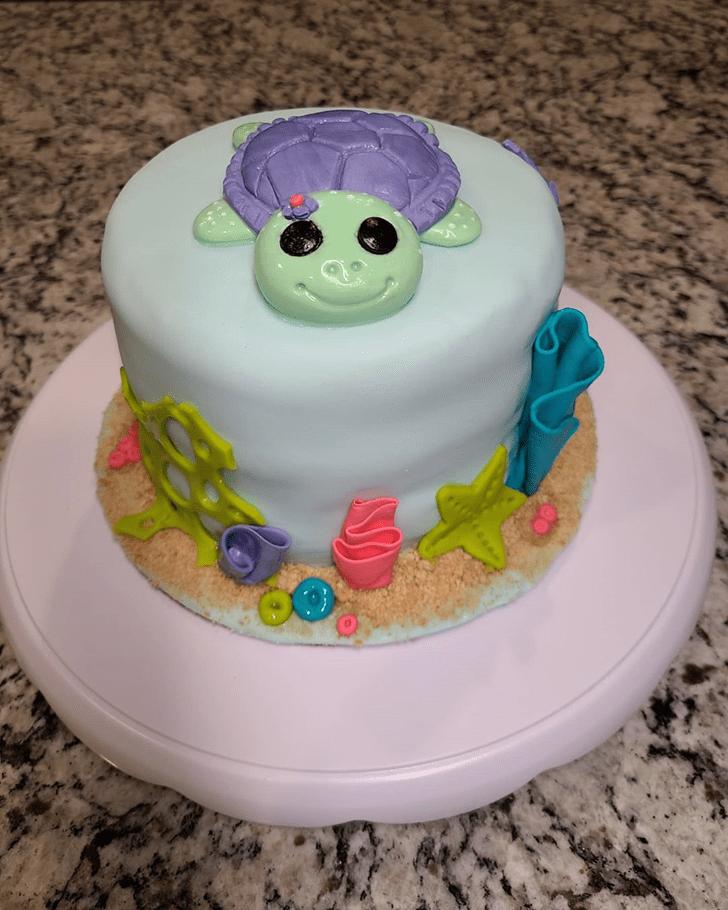 Alluring Turtle Cake
