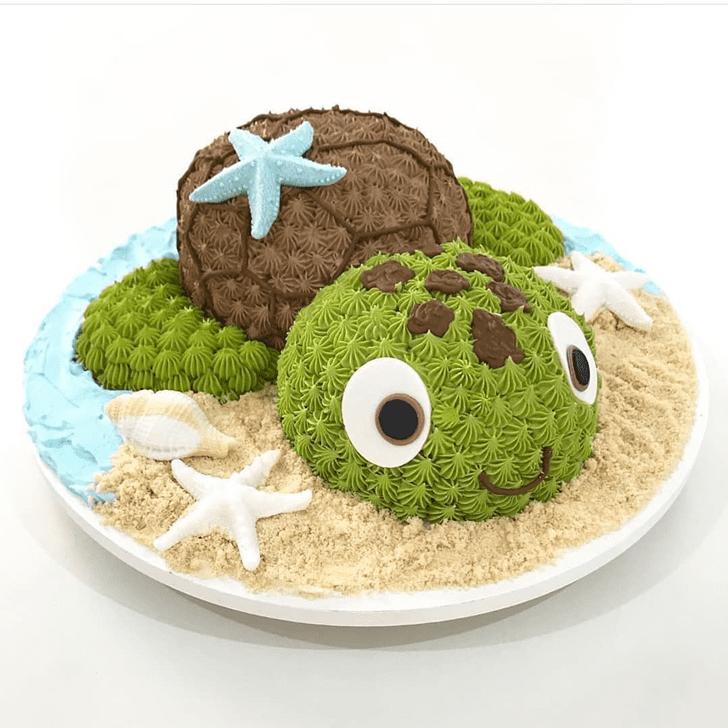 Bewitching Turtle Cake