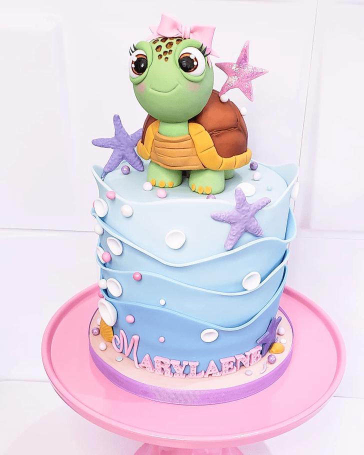 Delightful Turtle Cake