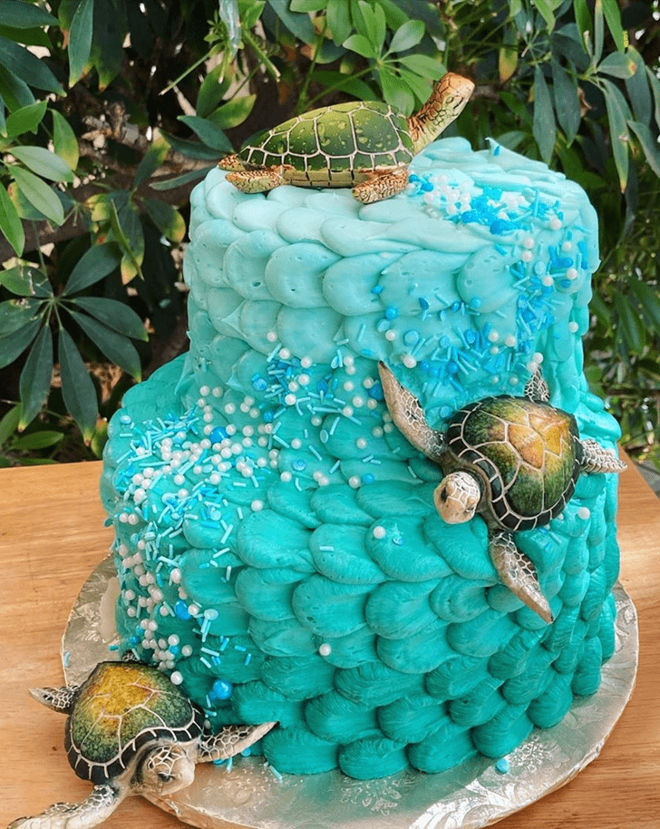 Enthralling Turtle Cake