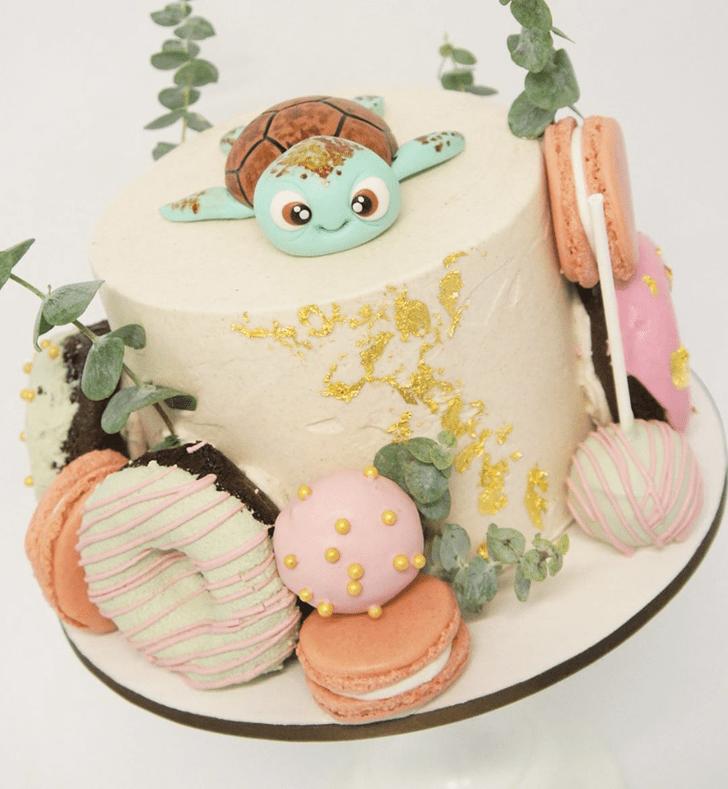 Good Looking Turtle Cake