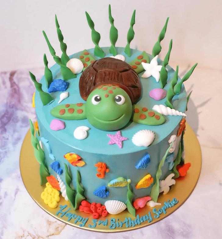 Graceful Turtle Cake