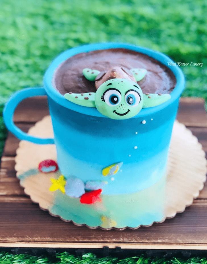 Inviting Turtle Cake