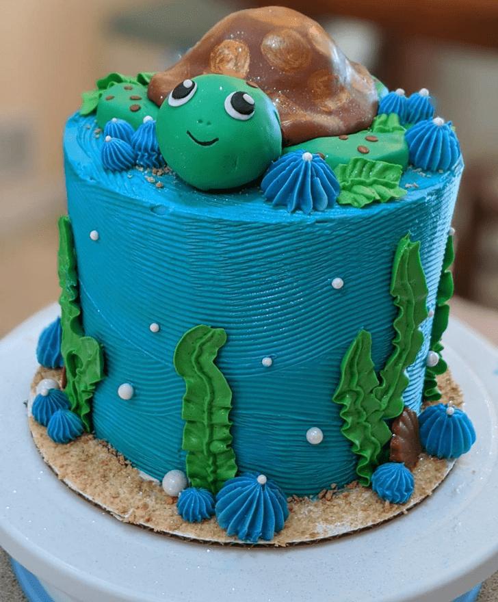 Lovely Turtle Cake Design