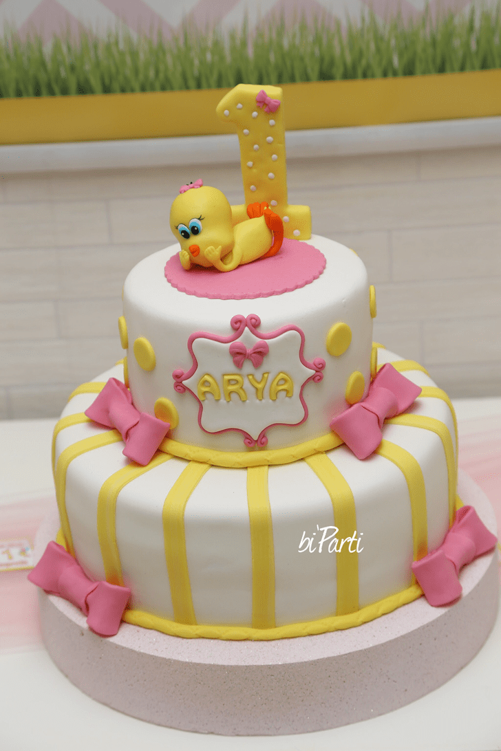 Delicate Tweety Cake