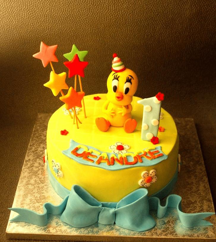 Radiant Tweety Cake