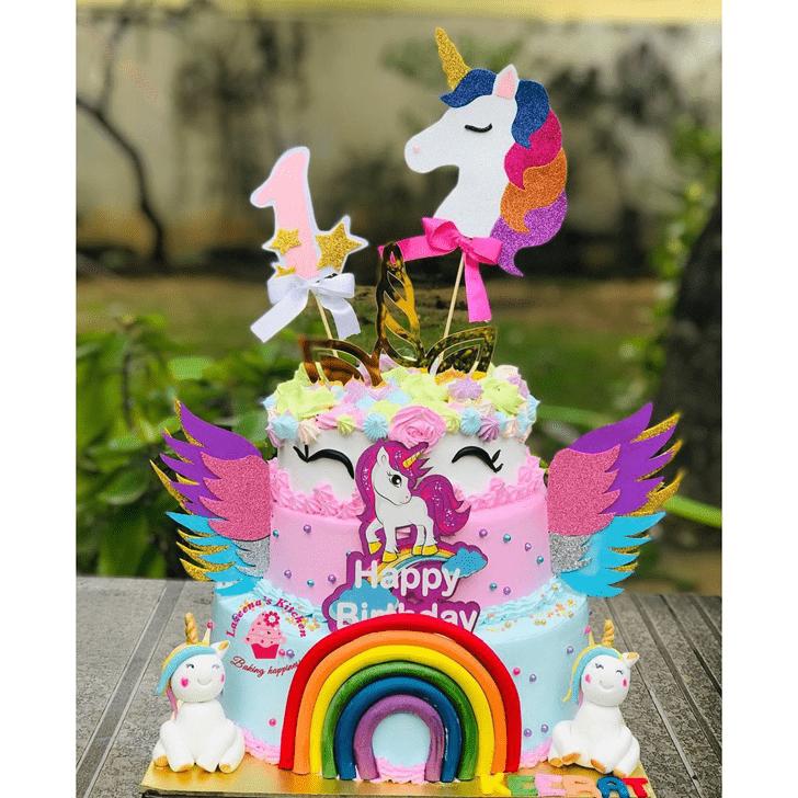 Lovely Unicorn Cake Design