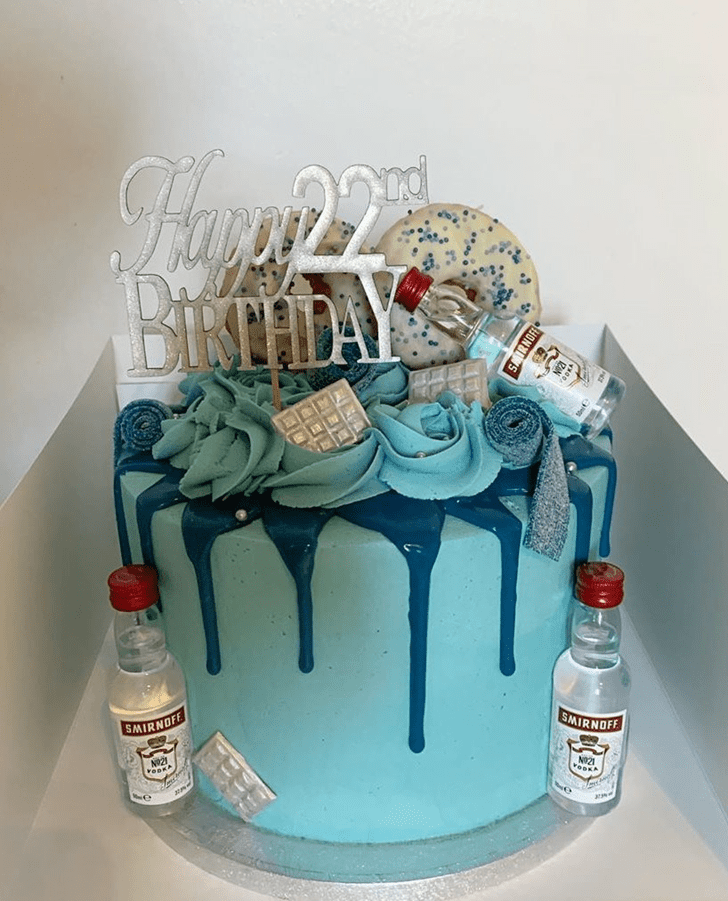 Admirable Vodka Cake Design