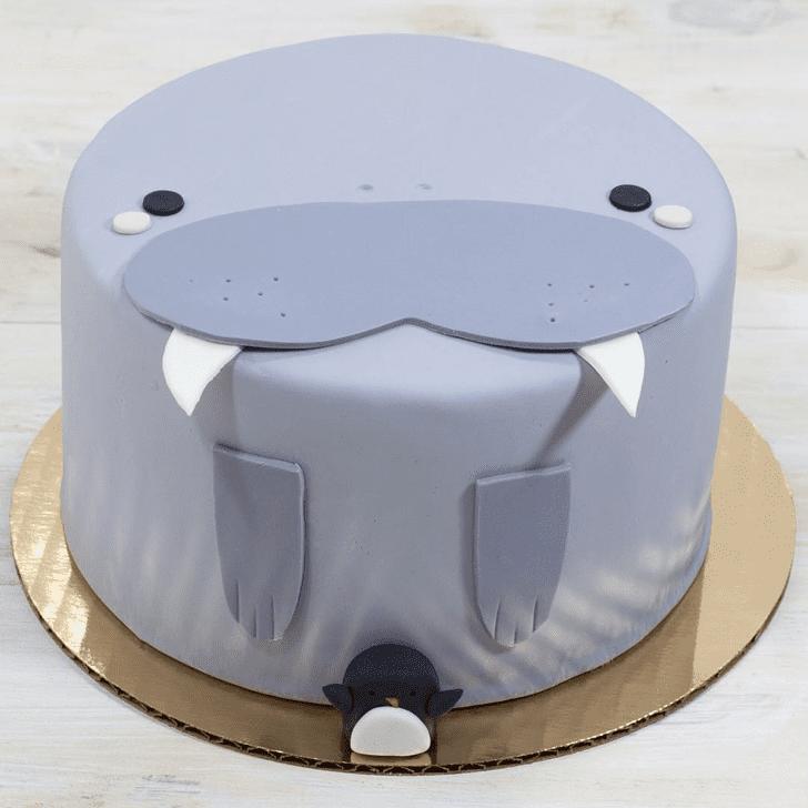 Classy Walrus Cake