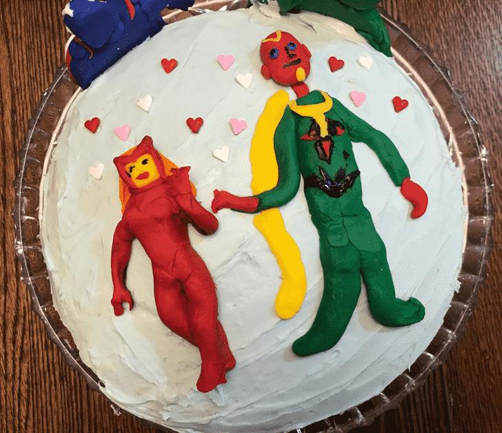 Adorable WandaVision Cake