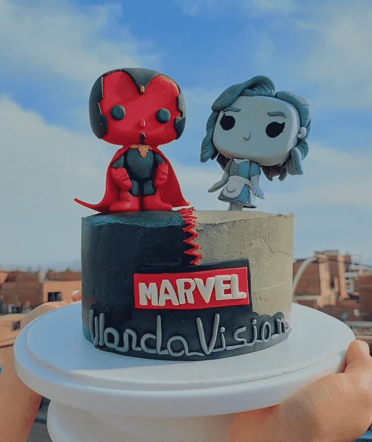 Charming WandaVision Cake