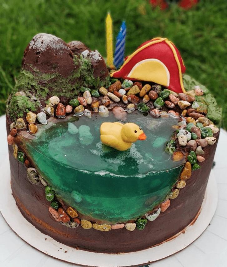 Dazzling Water Cake