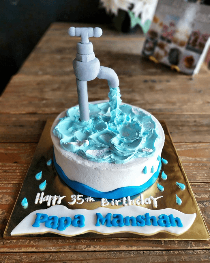 Pretty Water Cake