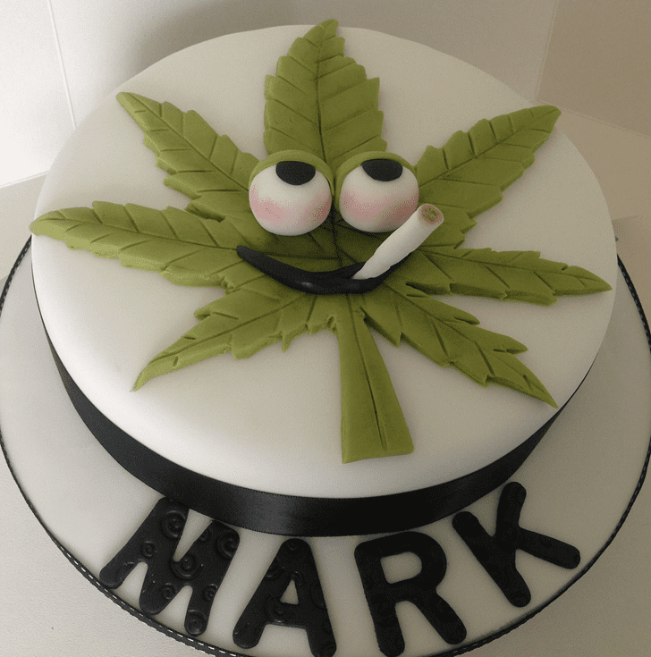 Admirable Weed Cake Design